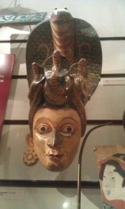 This Sri Lankan mask was used for dances.
